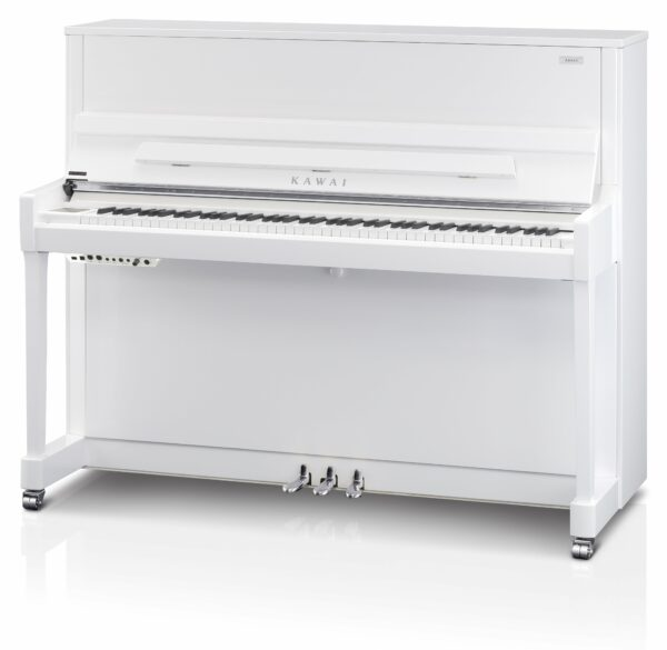 Kawai K300 Aures White with Silver Styling